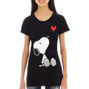 Peanuts Cap-Sleeve Snoopy Graphic Tee
