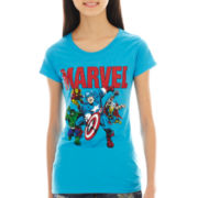 Marvel Cap-Sleeve Graphic Tee