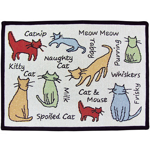 PB Paws by Park B. Smith® Cat Show Tapestry Pet Mat