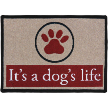 jcpenney.com | PB Paws by Park B. Smith® Dogs Paws Tapestry Pet Mat