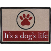PB Paws by Park B. Smith™ Dogs Paws Tapestry Pet Mat