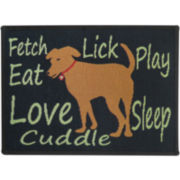 PB Paws by Park B. Smith® Friendly Dog Tapestry Pet Mat