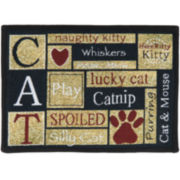 PB Paws by Park B. Smith™ I Love Cats Tapestry Pet Mat