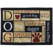 PB Paws by Park B. Smith™ I Love Dogs Tapestry Pet Mat