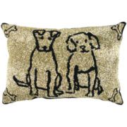 P.B. Paws by Park B. Smith™  Dog Friends Set of 2 Decorative Pillows