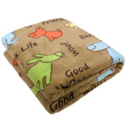 P.B. Paws by Park B. Smith™ Dog Show Printed Throw