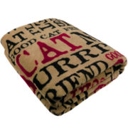 P.B. Paws by Park B. Smith™ Good Cat Printed Throw