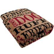P.B. Paws by Park B. Smith™  Good Dog Printed Throw