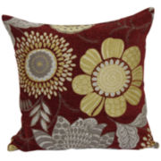 Multicolor Floral Jacquard Decorative Pillow
