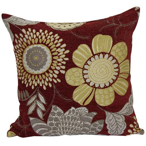 Brentwood Originals Multicolor Floral Jacquard Decorative Pillow