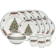 Johnson Brothers Victorian Christmas 16-pc. Stoneware Dinnerware Set
