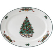 "Johnson Brothers Victorian Christmas 13¾"" Oval Serving Platter"