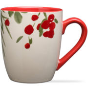 Holiday Mistletoe Greenery Set of 4 Mugs