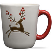 Prancing Reindeer Set of 4 Mugs