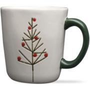 Woodlands Christmas Tree Set of 4 Mugs
