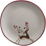 Prancing Reindeer Set of 4 Plates