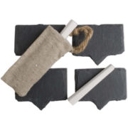 Set of 4 Slate Chalkboard Cheese Markers