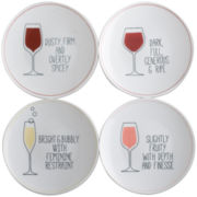 Set of 4 Wine Tasting Appetizer Plates