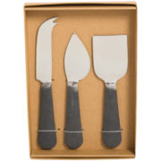 3-pc. Rustic Stainless Steel Cheese Serving Set