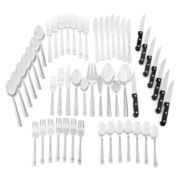 JCPenney Home™ Banded 53-pc. Flatware Set + $10 Printable Mail-In Rebate