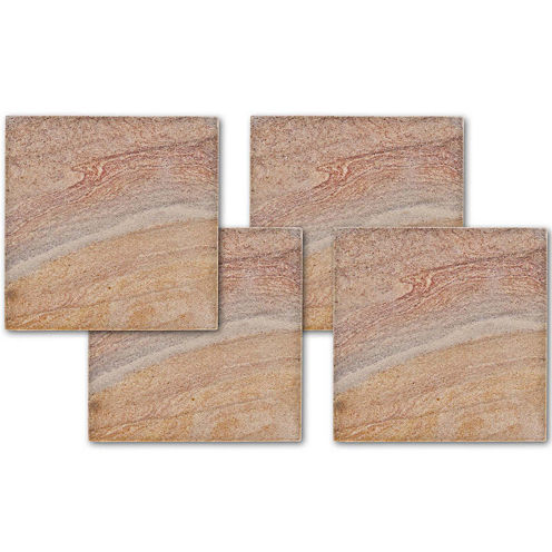 Thirstystone® Rainbow Stone Set of 4 Sandstone Coasters