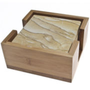 Thirstystone® Natural Sandstone Coasters Gift Set
