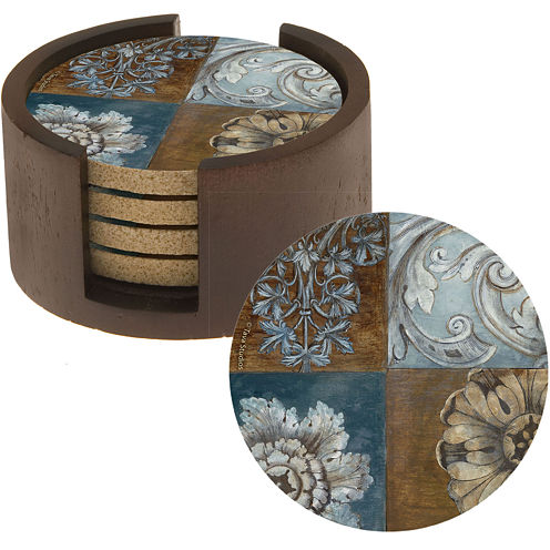 Thirstystone® Floral Sequence Set of 4 Coasters Gift Set