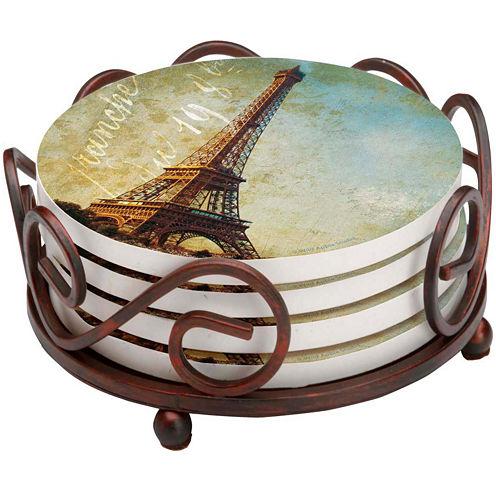 Thirstystone® Golden Age of Paris Set of 4 Coasters Gift Set