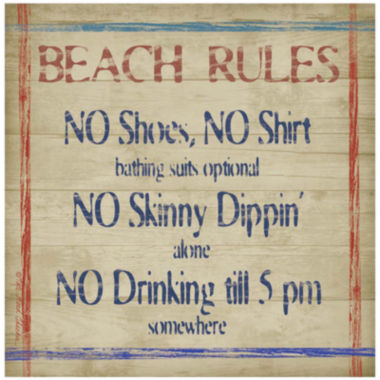 jcpenney.com | Thirstystone® Beach Rules Set of 4 Stoneware Coasters