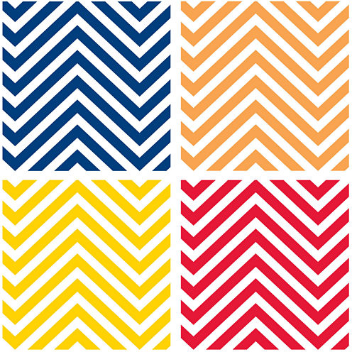Thirstystone® Chevron Set of 4 Stoneware Coasters