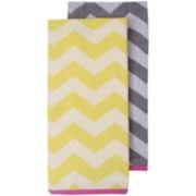 Ladelle® Lexi Chevron Set of 2 Dish Towels