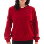 Alfred Dunner® Long-Sleeve Anti- Pill Fleece Top