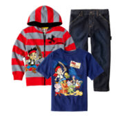 Disney Jake and the Neverland Pirates Tee, Hoodie or Arizona Jeans – Boys