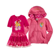 Disney Princess Dress, Fleece Jacket or Puffy Coat – Girls