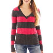 Arizona V-Neck Cable Knit Sweater