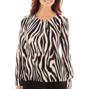 Worthington® Long-Sleeve Hardware Blouse - Tall