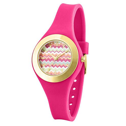 Womens Pink Strap Watch