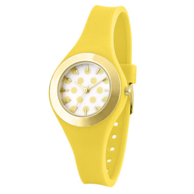 jcpenney.com | Womens Yellow Strap Watch