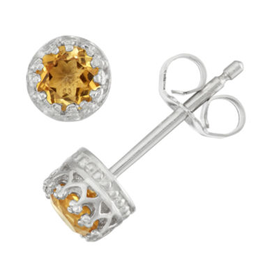 jcpenney.com | Round Orange Citrine Stud Earrings