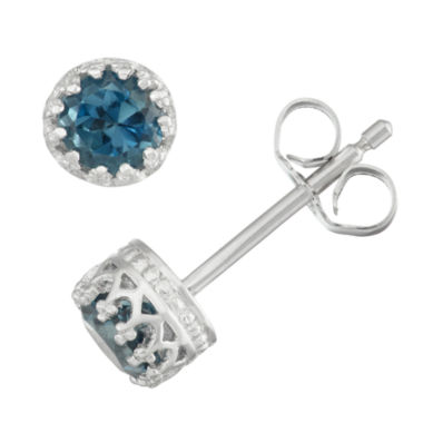jcpenney.com | Round Blue Topaz Stud Earrings