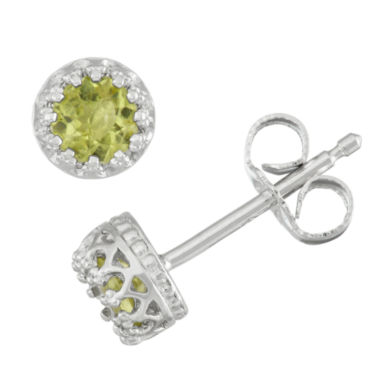 jcpenney.com | Round Green Peridot Stud Earrings