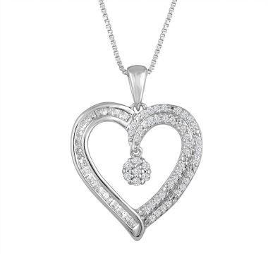 jcpenney.com | Diamond Blossom Womens 1/4 CT. T.W. White Diamond Sterling Silver Pendant Necklace