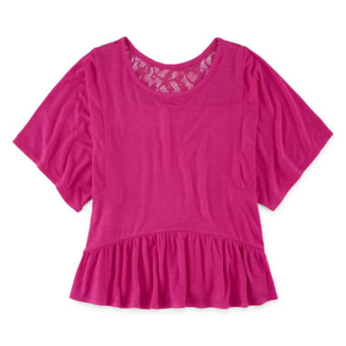 jcpenney.com | Total Girl Short Sleeve Peplum Top - Big Kid