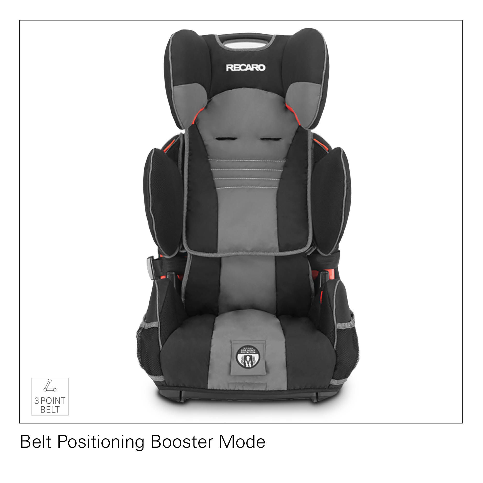 Recaro Performance Sport Harness Booster Car Seat - Slate