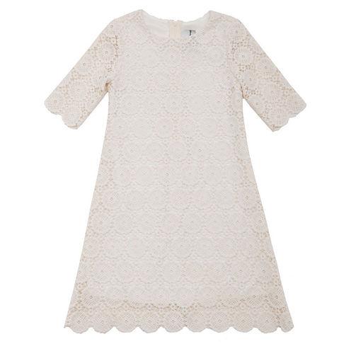 Rare Editions 3/4 Sleeve A-Line Dress - Toddler Girls