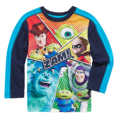 jcpenney.com | Okie Dokie Pixar Long-Sleeve Zam T-Shirt - Toddler 2T-5T