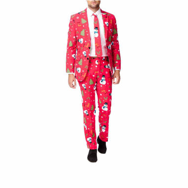 jcpenney.com | Holiday Red Snowmen OppoSuits 3-pc. Suit- Slim Fit