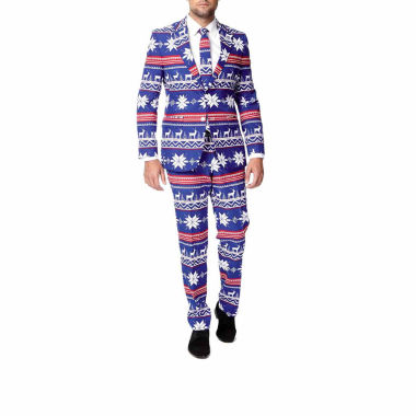 jcpenney.com | Holiday Blue Reindeer OppoSuits 3-pc. Suit- Slim Fit