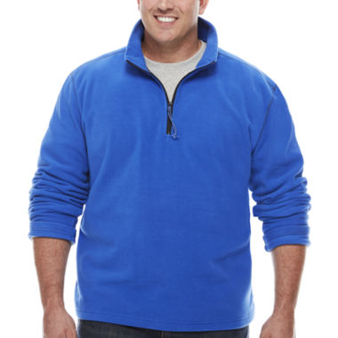 jcpenney.com | The Foundry Big & Tall Supply Co. Quarter Zip Plush Fleece