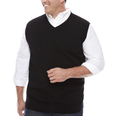 jcpenney.com | The Foundry Big & Tall Supply Co. V Neck Cotton Sweater Vest Big and Tall